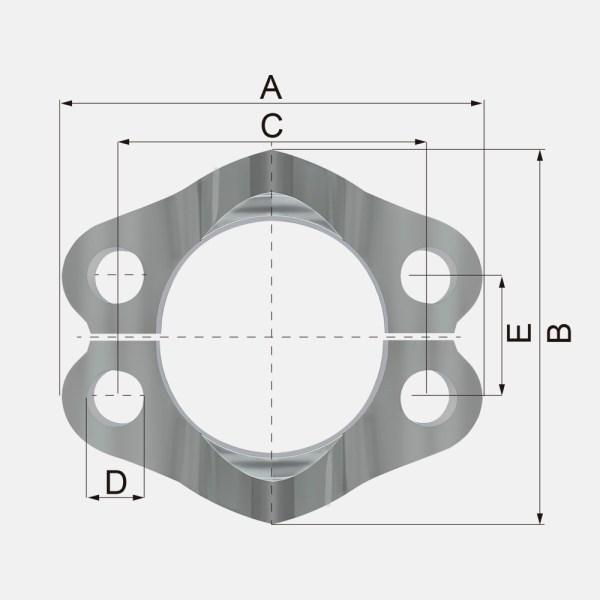 FL 1 - FL Brida 3000 PSI - ISO 6162-SAE J518