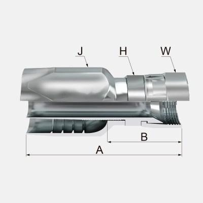 RNFJ 1 - RNFJ Hembra Giratoria Recta JIC 37º