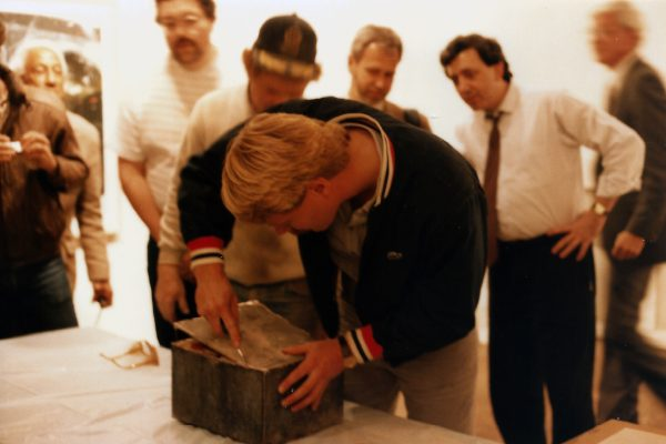 Opening the copper time capsule