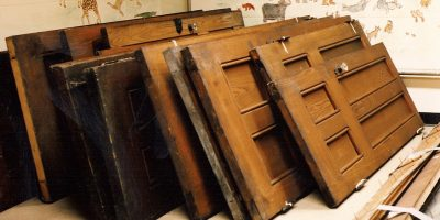 Salvaged Doors to be Reused