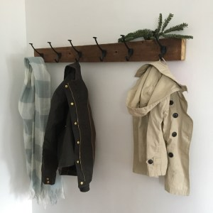 coat rack from original house studs