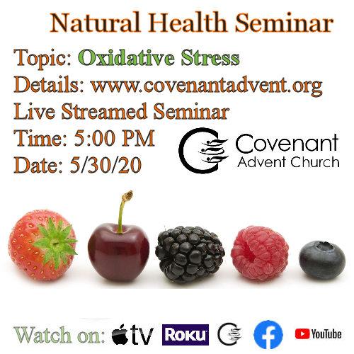 Oxidative stress health seminar flier