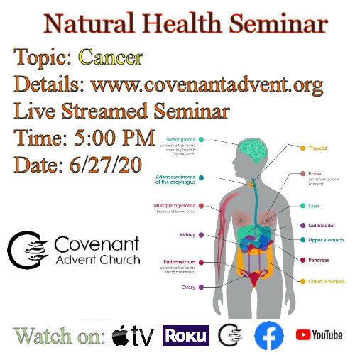 Cancer health seminar 5 pm 6 27 20