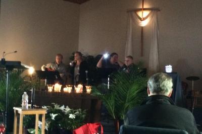 Church Meets in the Dark Following Fire