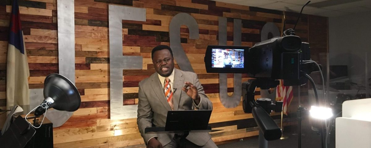 Pastor Alphonze shooting the Covenant Life Show for ITVN