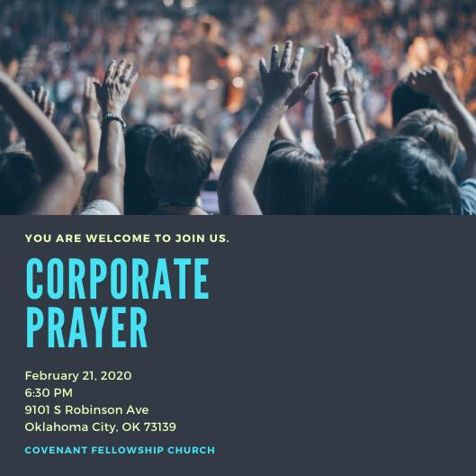 corporate prayer at covenant fellowship