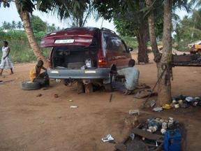 Fitter_working_on_the_van
