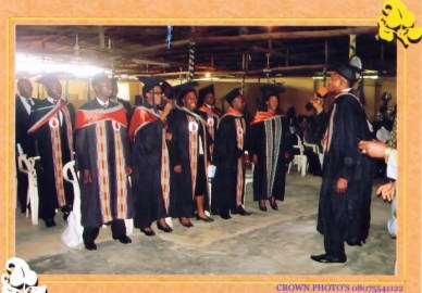 The graduates during song ministration