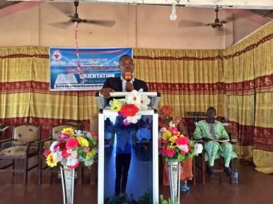 CMM Pastor Harrison describiing the school