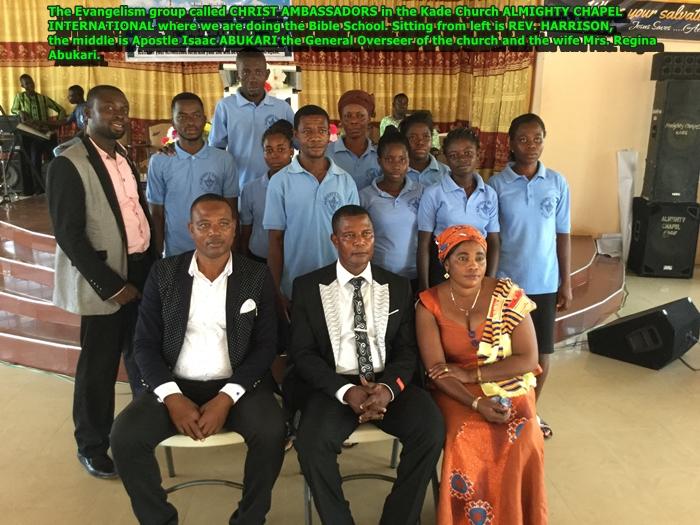 Christ Ambassadors - Kade Church Oct 2017