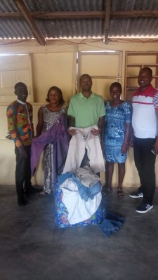 Clothing was given to Pastor Essel of Christian Forces Church- Oct 2017