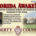 "Watch the ""Florida Awake! Presidential Forum"" Today!"