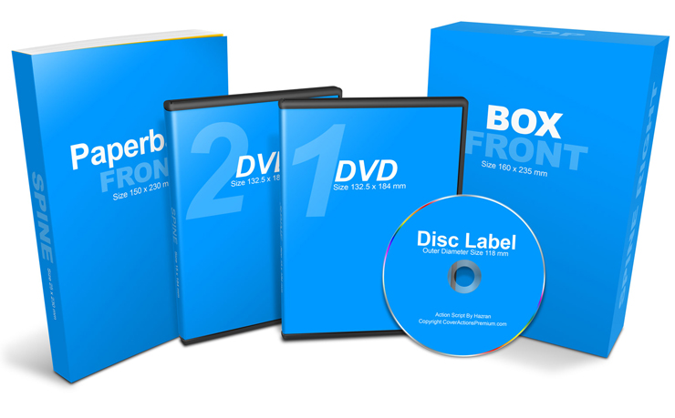 Download 2 DVD Home Study Course Mockup | Cover Actions Premium ...