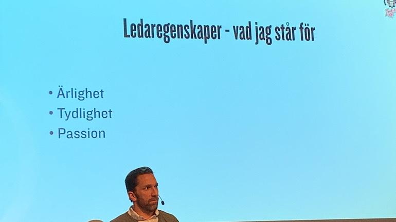 Ledaregenskaper Joel Lundqvist står för: Ärlighet, Tydlighet, Passion.