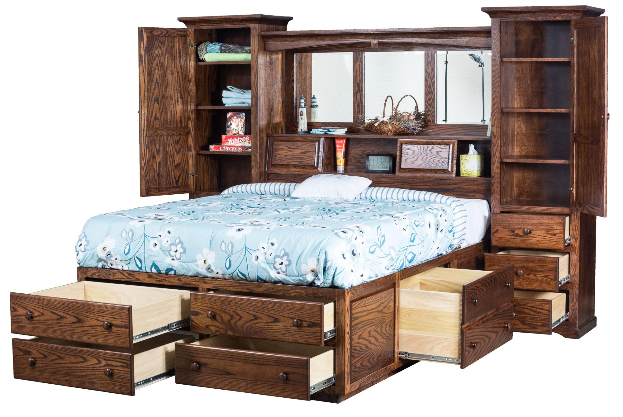 Deluxe Platform Bed Amish Furniture Store Mankato Mn
