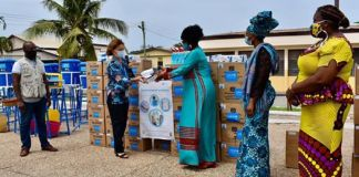 UNICEF presents PPEs to the Department of Social Welfare