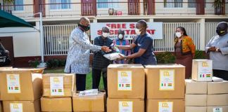 De Lorenzo donates face masks and hand sanitizers to Ministry of Education
