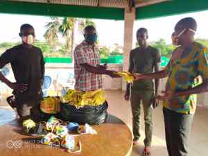 South Tongu District Football Association chairman supports residents with PPEs
