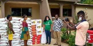 Suhum NDC parliamentary candidate Hon. Amanda Kwatia Okyere donates relief items, PPEs, others to private school teachers