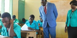 Dr. Yaw Osei Adutwum monitoring WASSCE Candidates (This picture was taken before Covid-19)