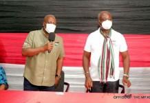H.E John Dramani Mahama and Hon. James Klutse Avedze (MP)
