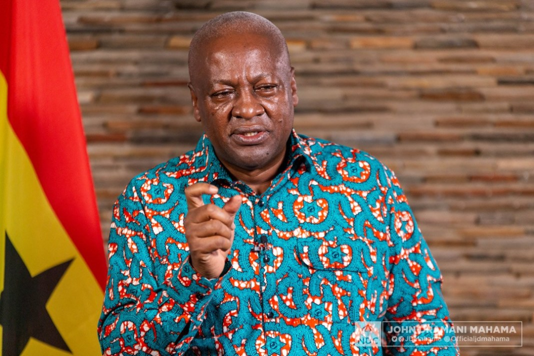 John Dramani Mahama, former President and flagbearer of the NDC