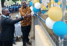Honourable Emmanuel Kwasi Bedzra commissioning a Liquefied Petroleum Gas (LPG) facility E.P College of Education