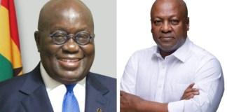Nana Addo Dankwa Akufo-Addo and John Dramani Mahama