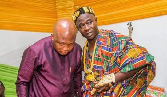 Samuel Okudzeto Ablakwa and Togbe Komla Sakpiti V