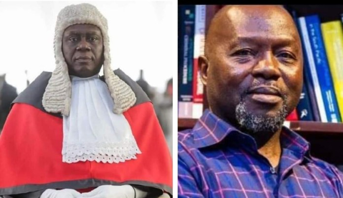 Chief Justice Kwasi Anin-Yeboah and Dr. Dominic Ayine