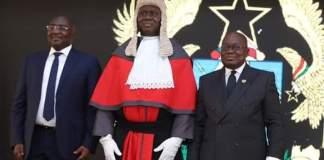 Dr. Bawumia, Chief Justice and President Nana Addo Dankwa Akufo-Addo