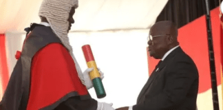Chief Justice Kwasi Anin-Yeboah and President Nana Addo Dankwa Akufo-Addo