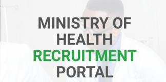 Ministry of Health Recruitment Portal