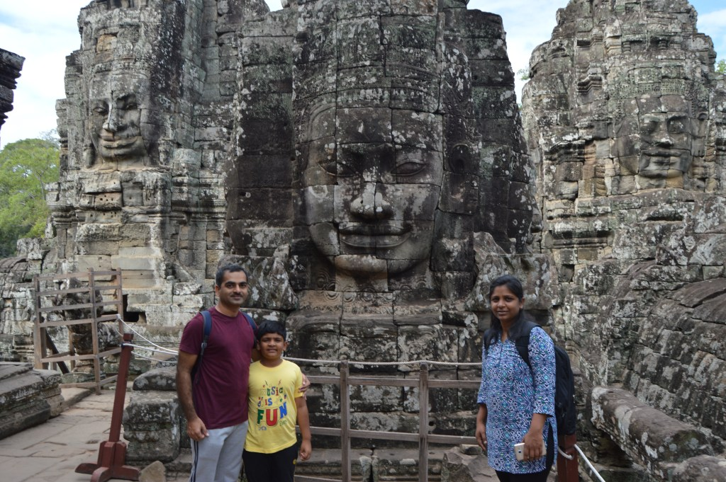 Ravi, Vivaan and I in Cambodia