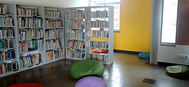 Children's section at the Auroville library