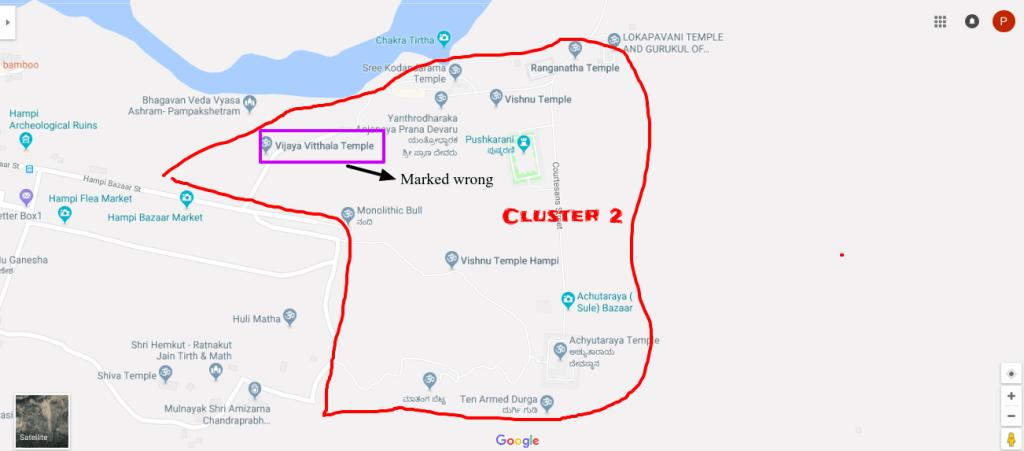 Cluster 2 - near Monolithic Bull, Hampi