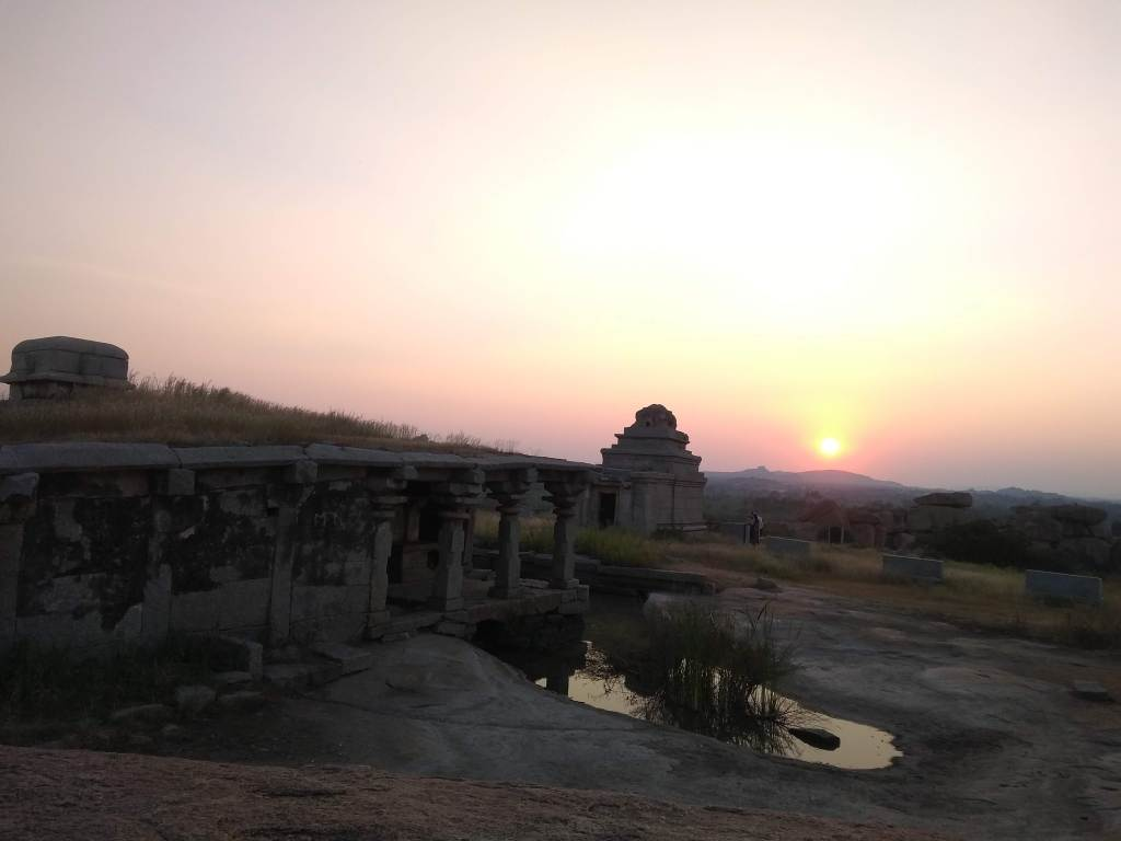 Sunset point, Hemakuta Hills, Hampi