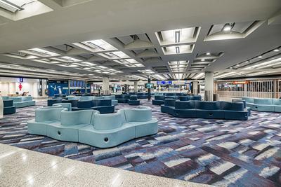 Sofas at Hong Kong Airport transit area