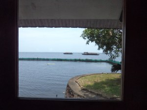 View from the restaurant at KTDC Waterscapes, Kumarakom