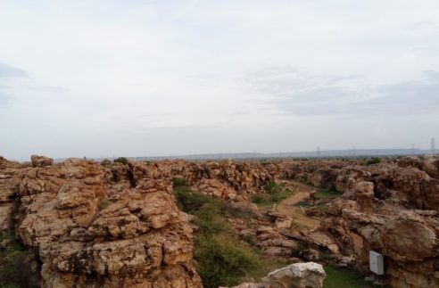 Orvakal Rock Garden birds eye view