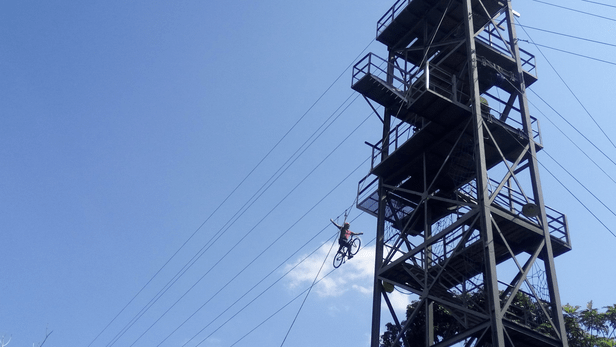 Bike zipline at Chocolate hills adventure park, Bohol