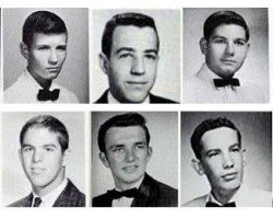 Yearbook headshots of some of those killed in Vietnam