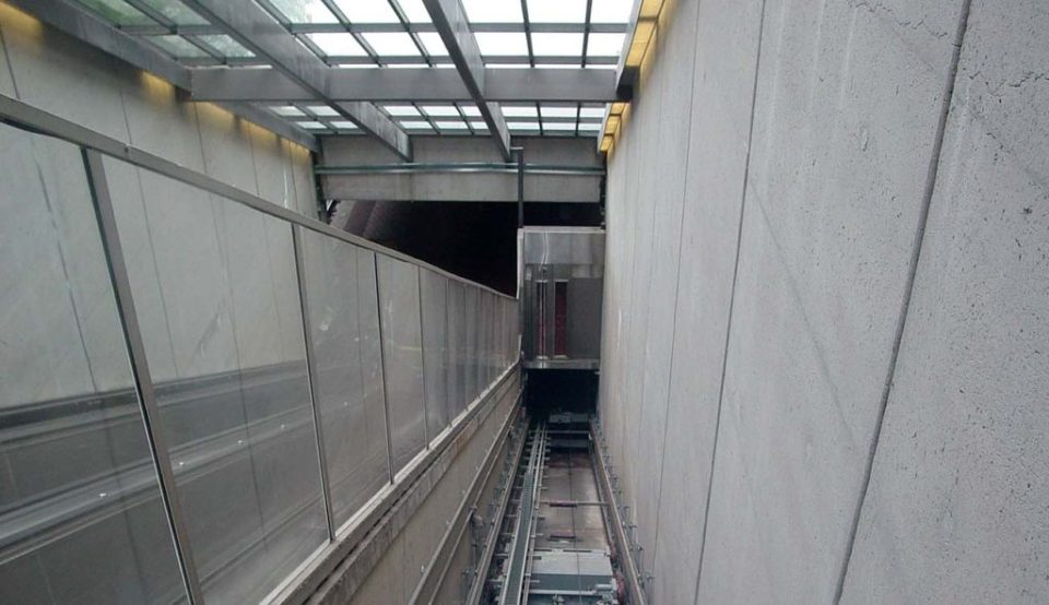 Huntington Metro elevator
