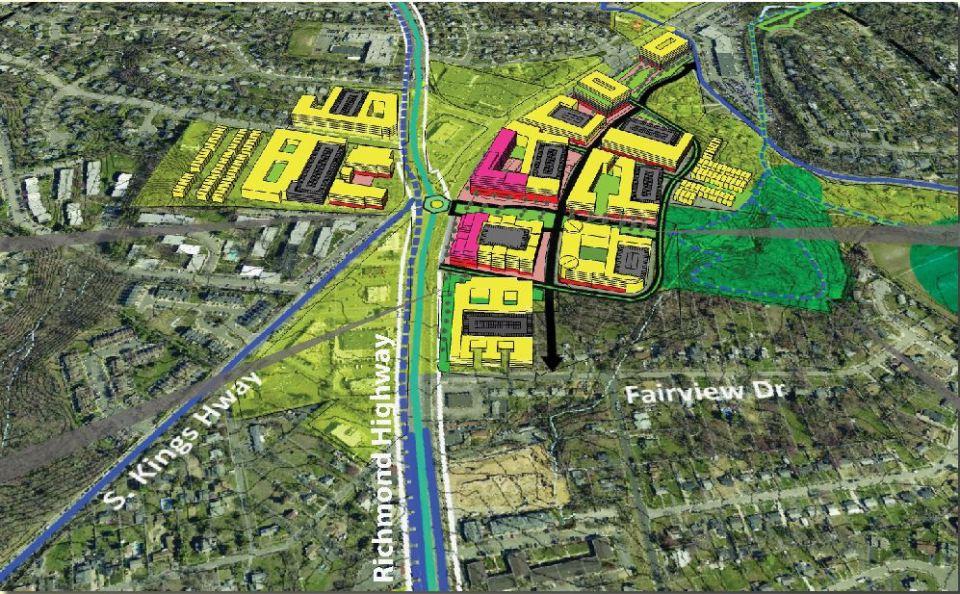 Map of Penn Daw Urban Village