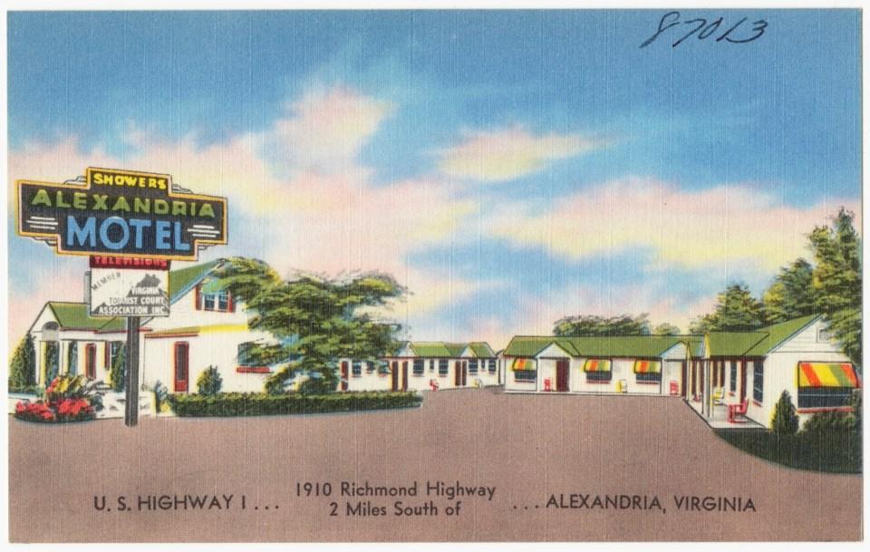 Alexandria Motel postcard