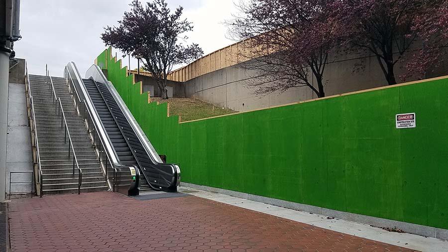 Huntington Metro outdoor escalator