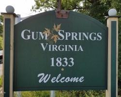 Gum Springs sign on Fordson Road