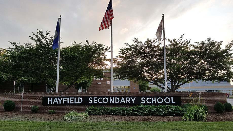 Hayfield sign