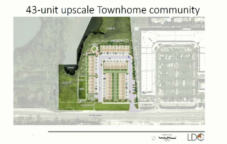 Drawing of townhome community