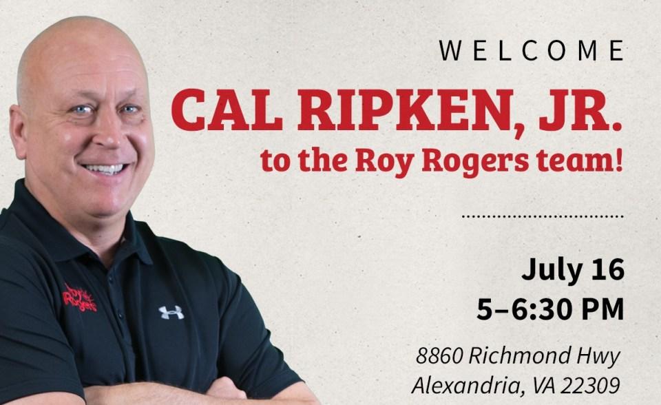 Cal Ripken on event flyer